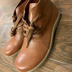 Handmade leather booties